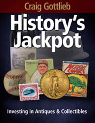 Book Cover for History's Jackpot; black, red, yellow