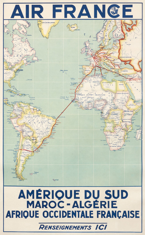 Air France (Route Map)